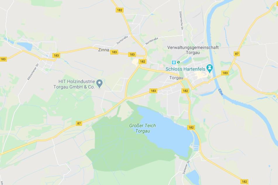 Auf der Eilenburger Straße (B 87) bei Torgau kam es einem schweren Unfall.