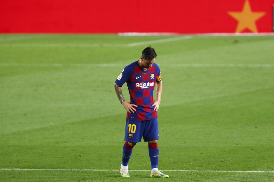 Enttäuscht von der Niederlage, der Saison und der Performance des ganzen Klubs: Lionel Messi (33).