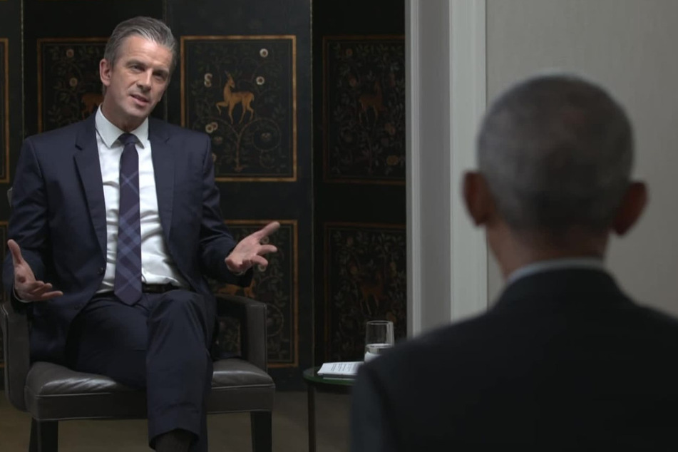 Markus Lanz (51, l.) traf Barack Obama (59) in Washington zum Einzel-Interview.
