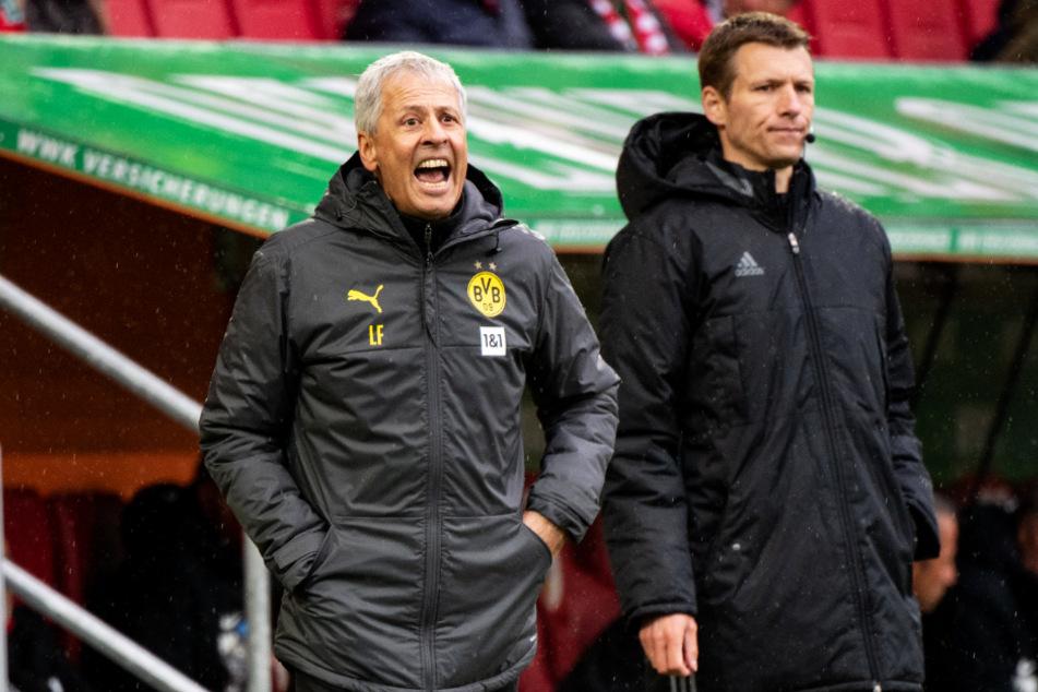 BVB-Coach Lucien Favre (62) muss seine Mannschaft nach der bitteren Niederlage vor dem Duell mit dem FC Bayern München wieder aufrichten.