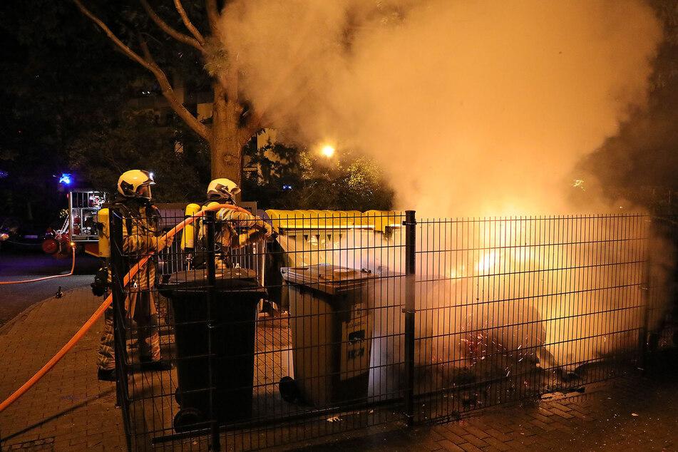 Die Kameraden der Feuerwehren Löbtau sowie Gorbitz hatten in der Nacht zum Dienstag allerhand zu tun.