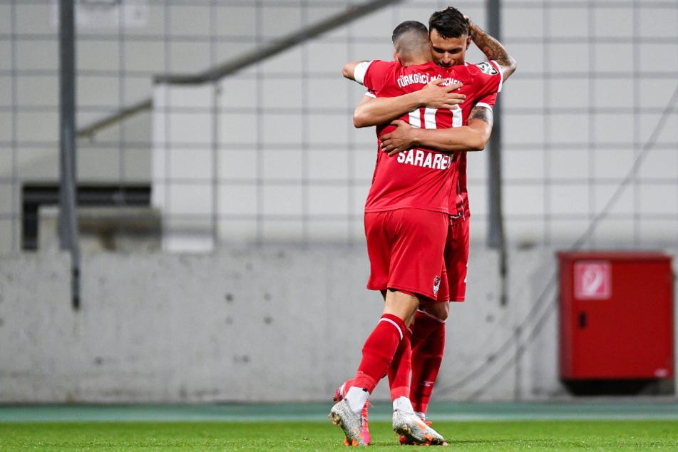 Gefährliches Türkgücü-Sturmduo: Sercan Sararer (31) und Petar Sliskovic (29). Letzterer kickte in der Saison 2012/13 mal kurz für Dynamo.