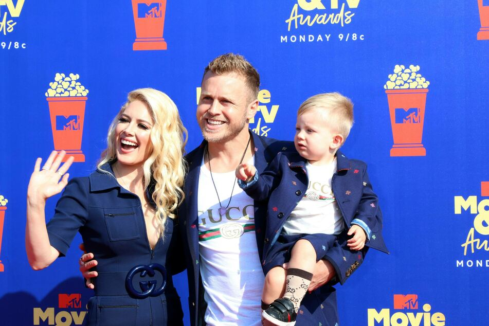 Spencer Pratt with his wife, Heidi Montag, and son Gunner at the 2019 MTV Movie & TV Awards (archive image).