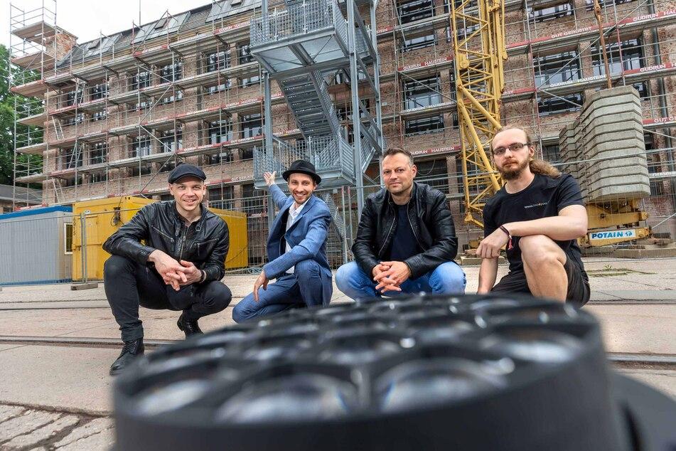 Musikalischer Hilferuf für Künstler und Eventbranche in der Schönherrfabrik (v.l.): Mazze Wiesner, Martin Schmitt, Matthias M. Brückner und Felix Bartsch.
