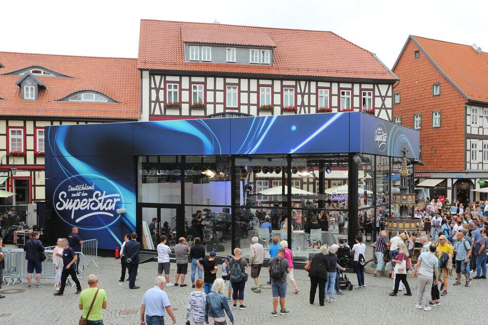 Auf dem Marktplatz von Wernigerode gingen am Donnerstag die DSDS-Castings los.