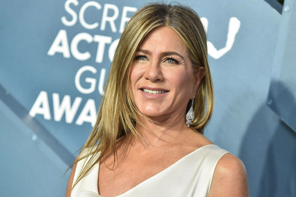 Jennifer Aniston at the Screen Actors Guild Awards at the Shrine Auditorium & Expo Hall in January 2020.
