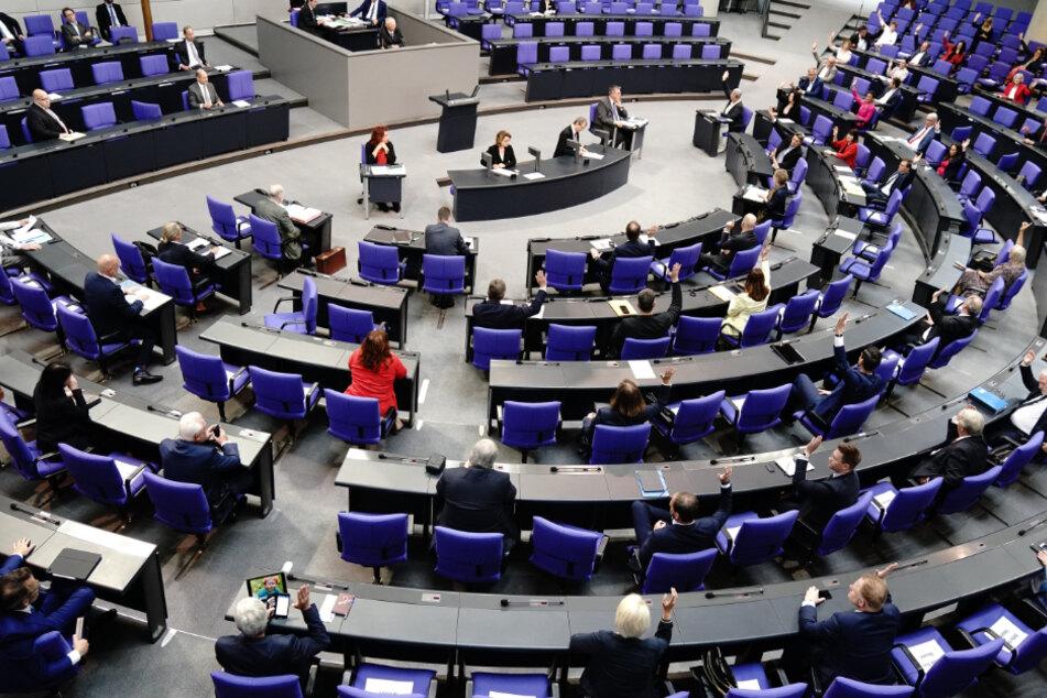 Der Bundestag bei der Sondersitzung.