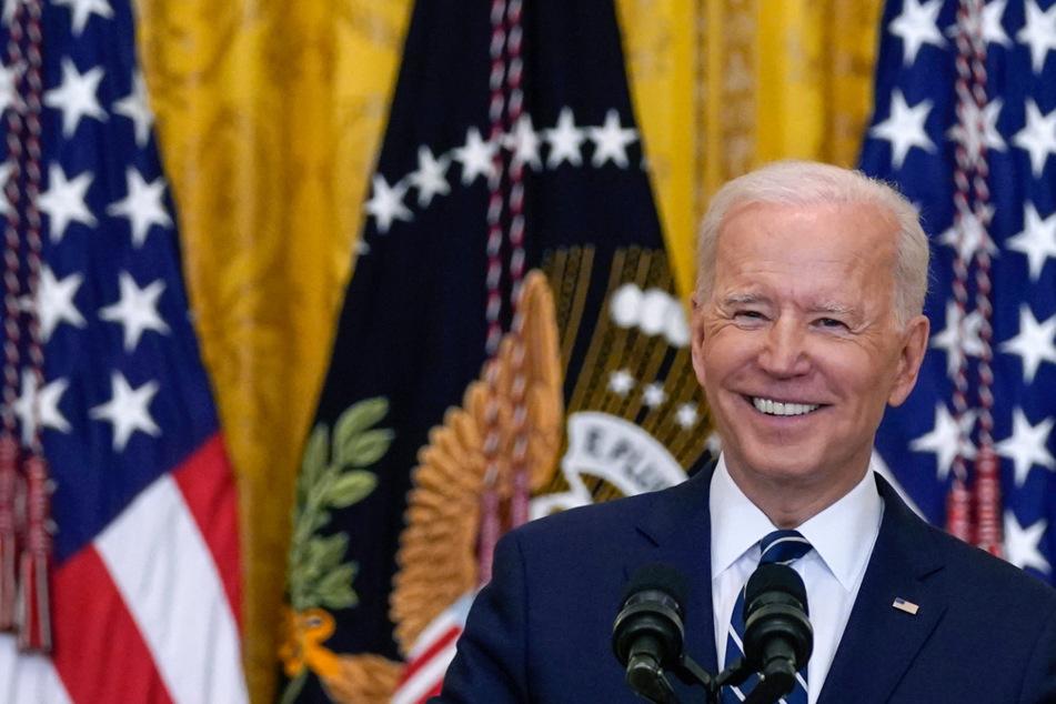 Erste Pressekonferenz als Präsident. Gute Laune war bei Joe Biden (78) angesagt.