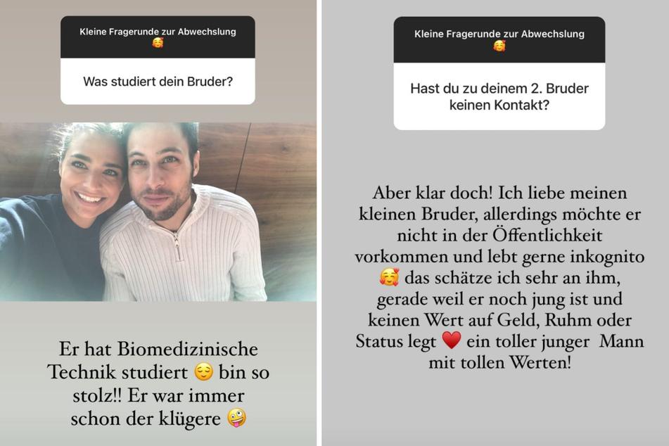 Amira Pocher (28) schwärmt bei Instagram von ihren Brüdern. (Fotomontage)