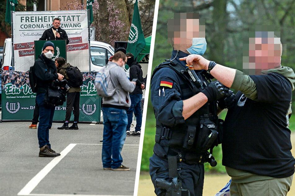 Chemnitz: Reinfall für Rechte: Nur 45 Demonstranten in Plauen
