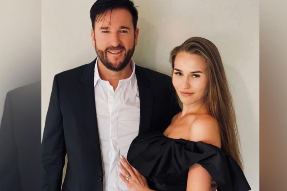 Laura Norberg und Michael Wendler schweben im Liebesglück.