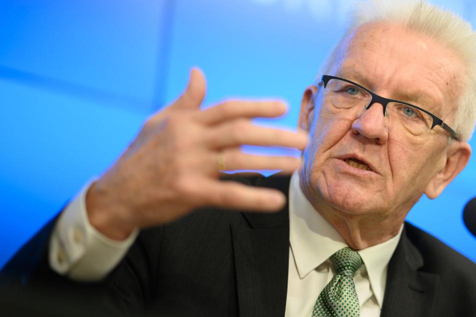 Ministerpräsident Winfried Kretschmann (72, Grüne).