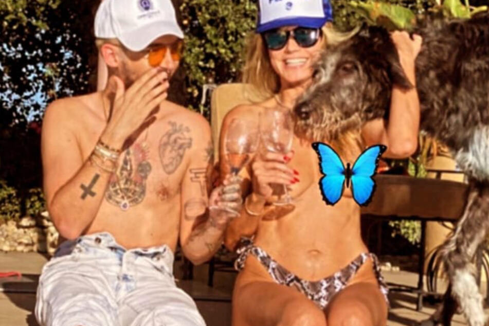 Heidi Klum goes topless on Instagram!