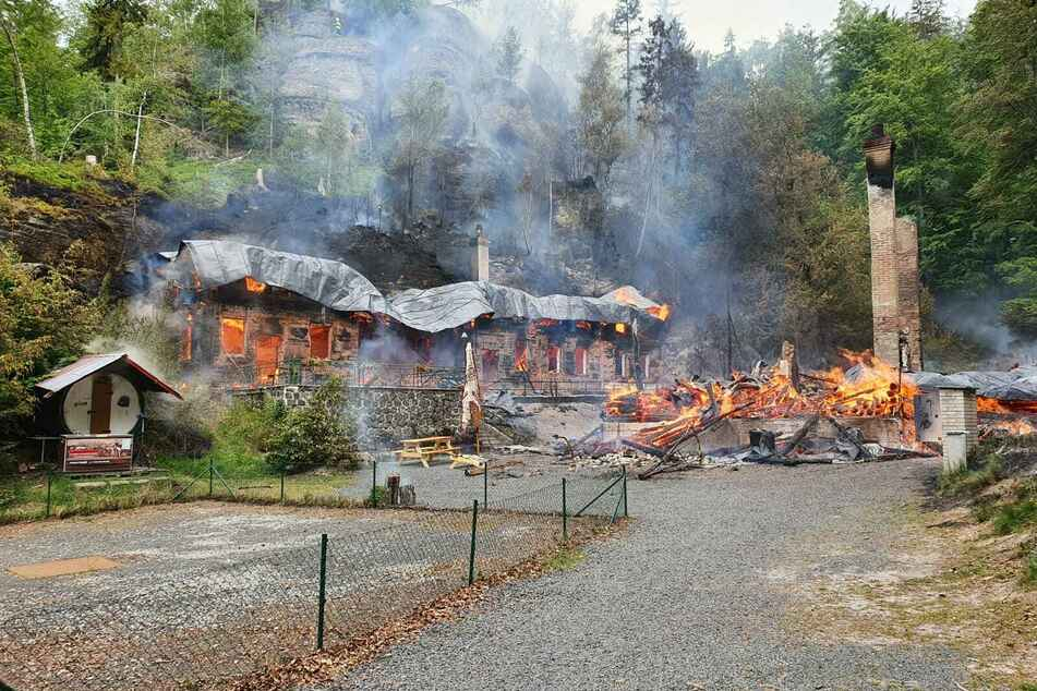 Das beliebte Ausflugsziel liegt in Trümmern.