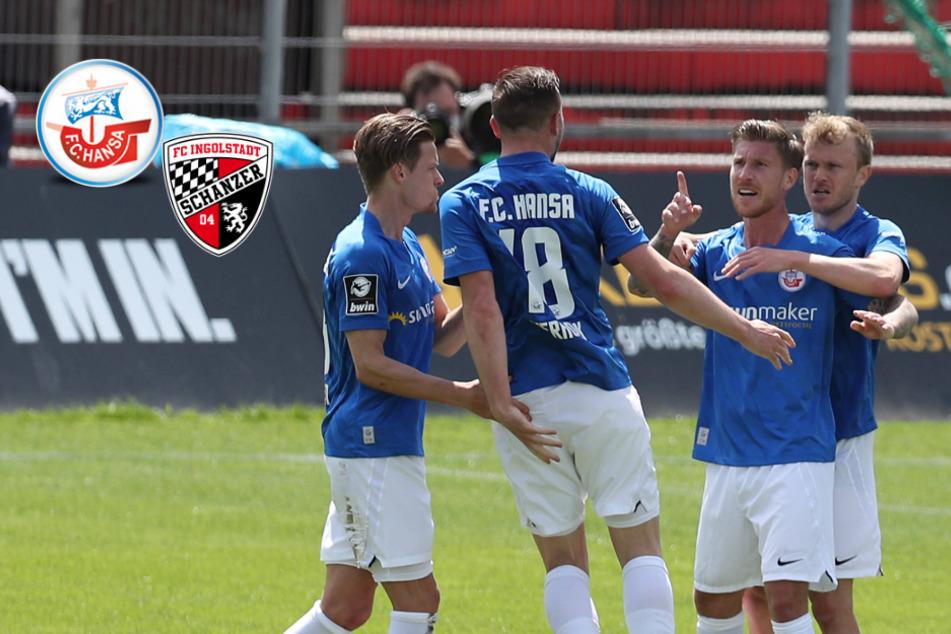 Aufstiegskampf 3. Liga: Big Point für Hansa Rostock, Ingolstadt on fire!
