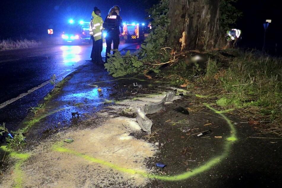 Die Polizei sicherte die Unfallstelle und ermittelt nun, wie es zu dem Unfall kommen konnte.
