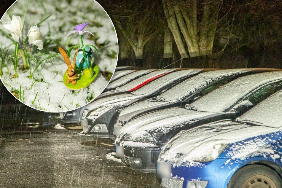 Kurz vor Ostern: Winter meldet sich in Sachsen zurück