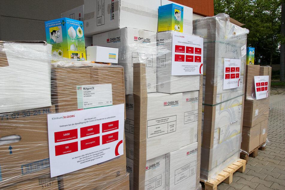 Medizinische Ausrüstung im Wert von 60.000 ist aktuell von Leipzig nach Vietnam unterwegs.