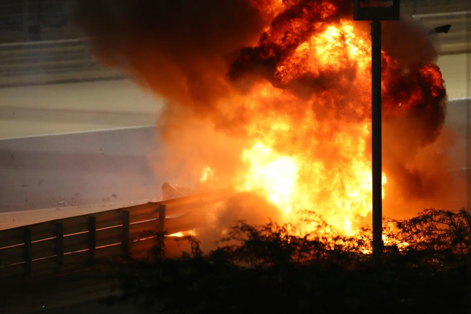 Feuer-Crash in der Formel 1 wird jetzt genau untersucht