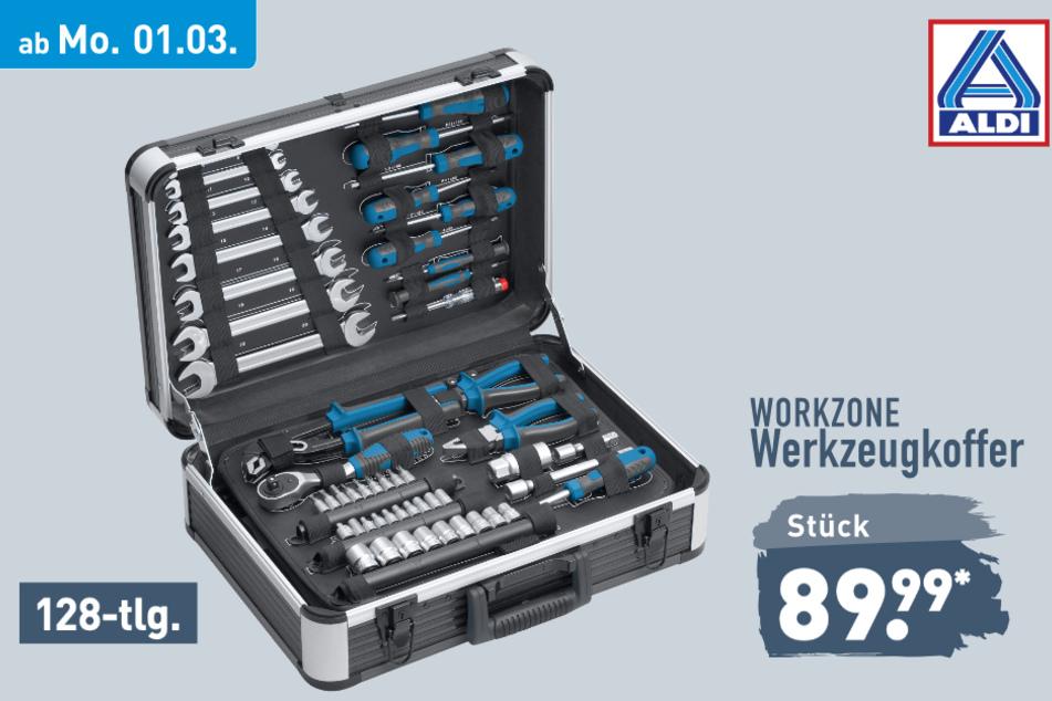Werkzeugkoffer von Workzone ab Montag für 89,99 Euro bei ALDI in Genthin
