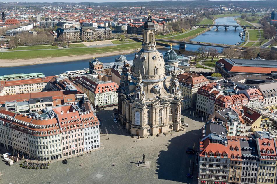 Das Wahrzeichen der Stadt: Die Dresdner Frauenkirche.