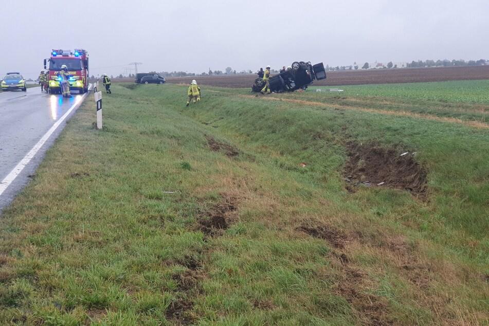 Mehrere Helfer waren am Unfallort im Einsatz.