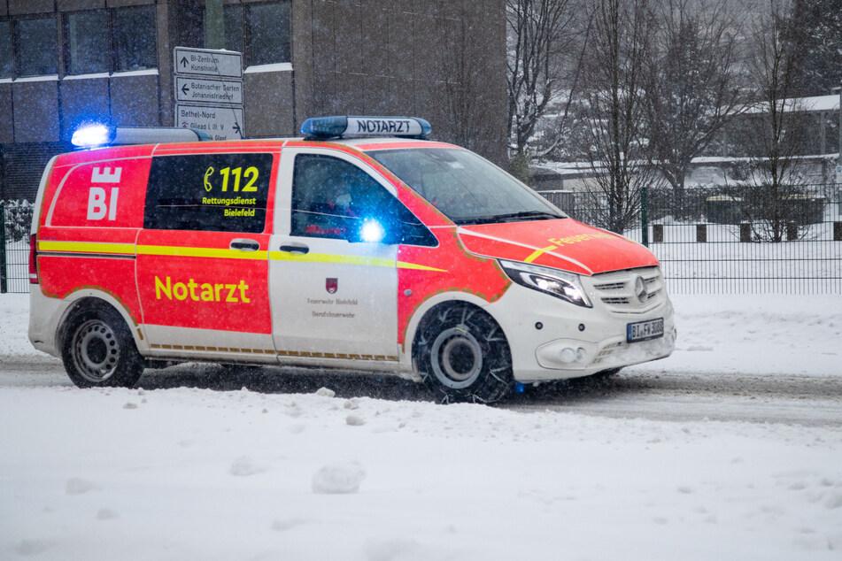 Mitten in Bielefelder Innenstadt: Toter im Schneetreiben gefunden