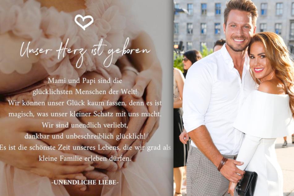 Mit diesem herzerwärmenden Instagram-Post verkünden Angelina (28) und Sebastian Pannek (33) die Geburt ihres Sohnes.