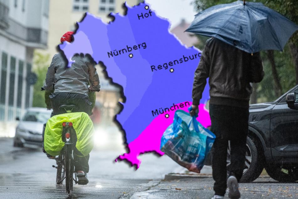 Alles Nasse kommt von oben: Der Dienstag in Bayern wird ungemütlich