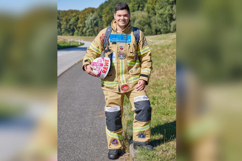 Der Hamburger Feuerwehrmann will zu Fuß von Hamburg nach Sömmerda in Thüringen laufen.