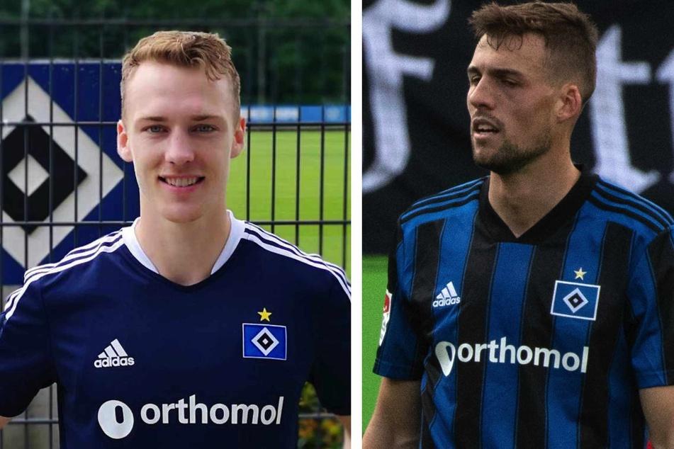 Sebastian Schonlau (27, links) und Jonas Meffert (26) überzeugten bislang beim HSV als Neuzugänge.