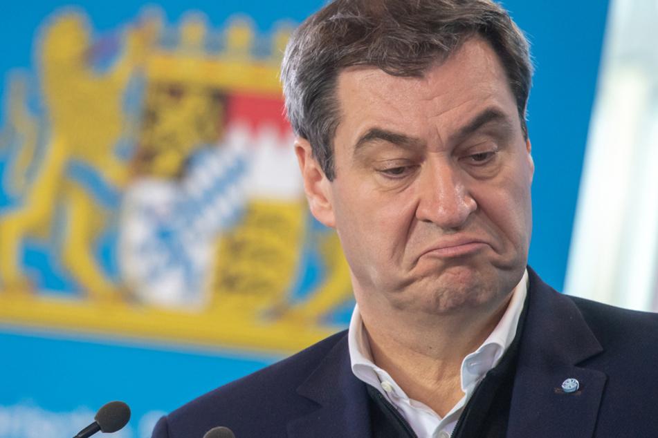 Abgestraft: Nur noch 48 Prozent der Bayern sind mit Söder zufrieden