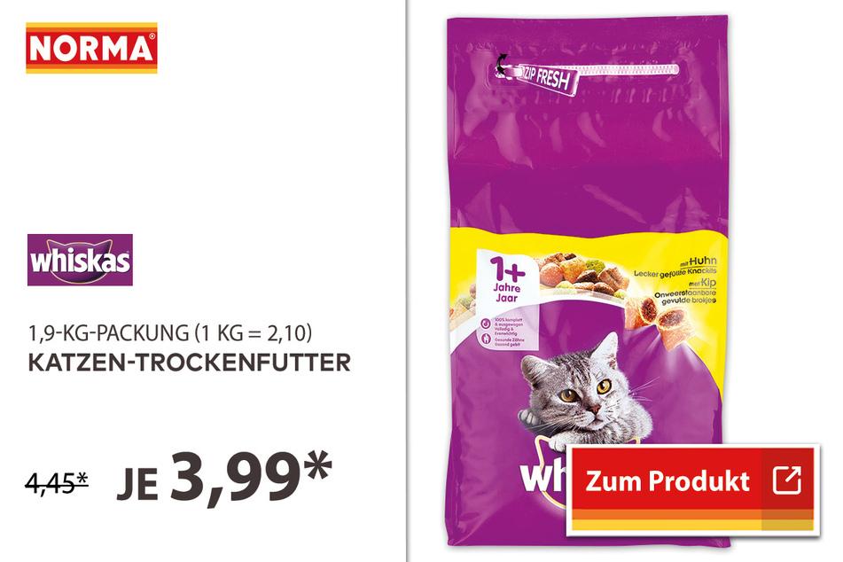 Katzen-Trockenfutter für 3,99 Euro