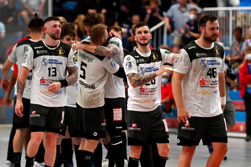 Der HC Elbflorenz feierte mit seinem Sieg in Dormagen den perfekten Saisonabschluss.
