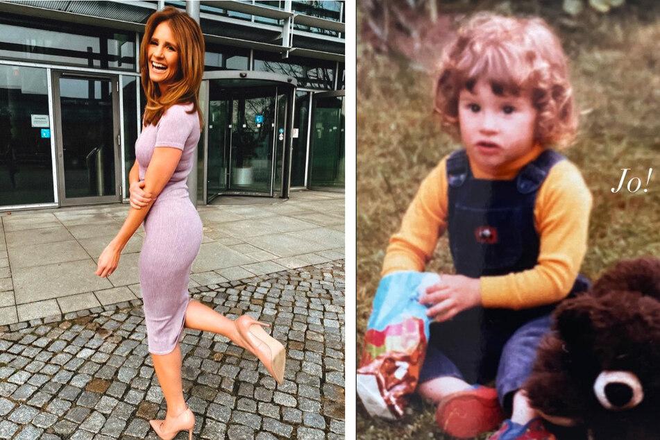 Mareile Höppner (44) zeigte ein Foto aus Kindertagen mit niedlichem Strubbelkopf.