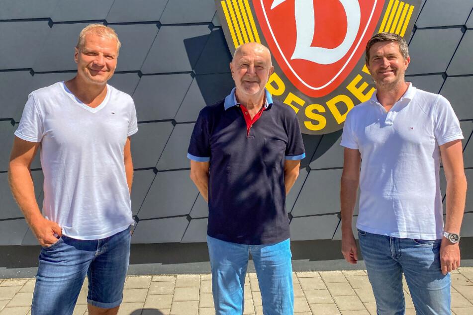 Nachwuchsleiter Sport Jan Seifert (52), Übergangskoordinator Hans-Jürgen Kreische (73) und Sportgeschäftsführer Ralf Becker (49). (v. li.)