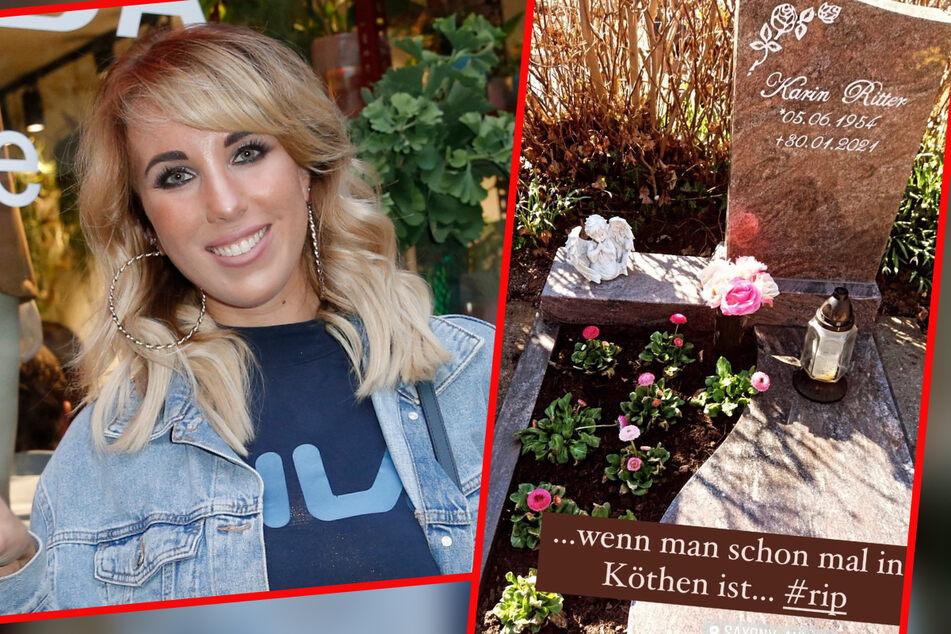 Kritik an Ex-DSDS-Star Annemarie Eilfeld: Sie besuchte Grab von Karin Ritter