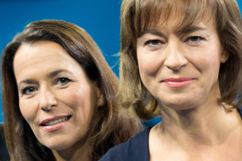 Die Moderatorinnen Anne Will (li.) und Maybrit Illner.