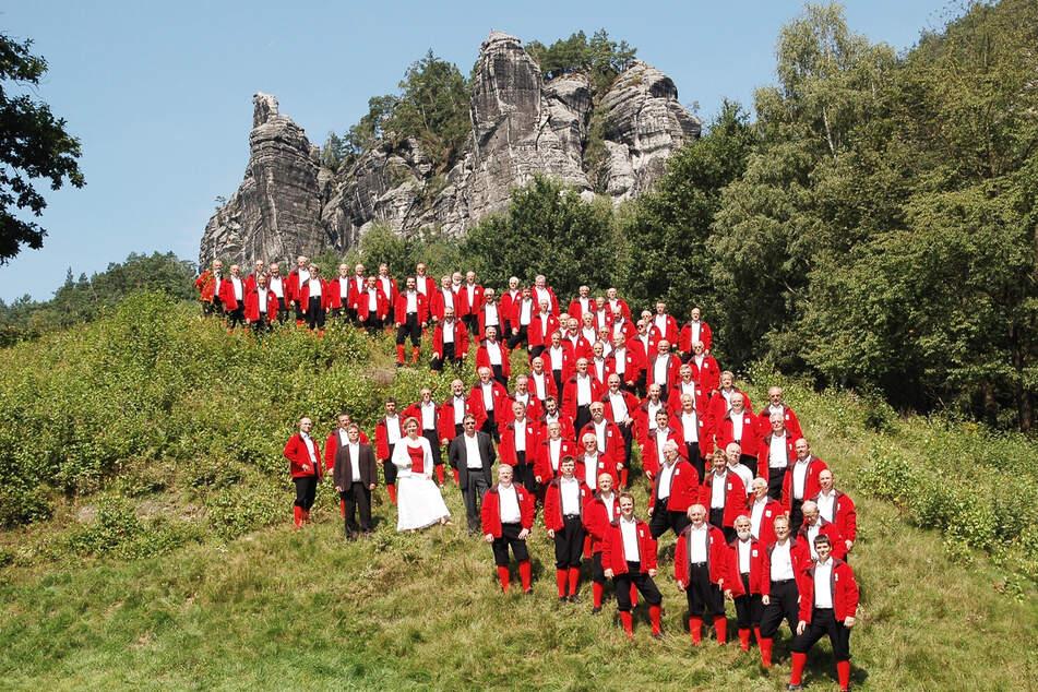 Der Sächsische Bergsteigerchor kommt am heutigen Sonntag an die Naturbühne in Maxen.