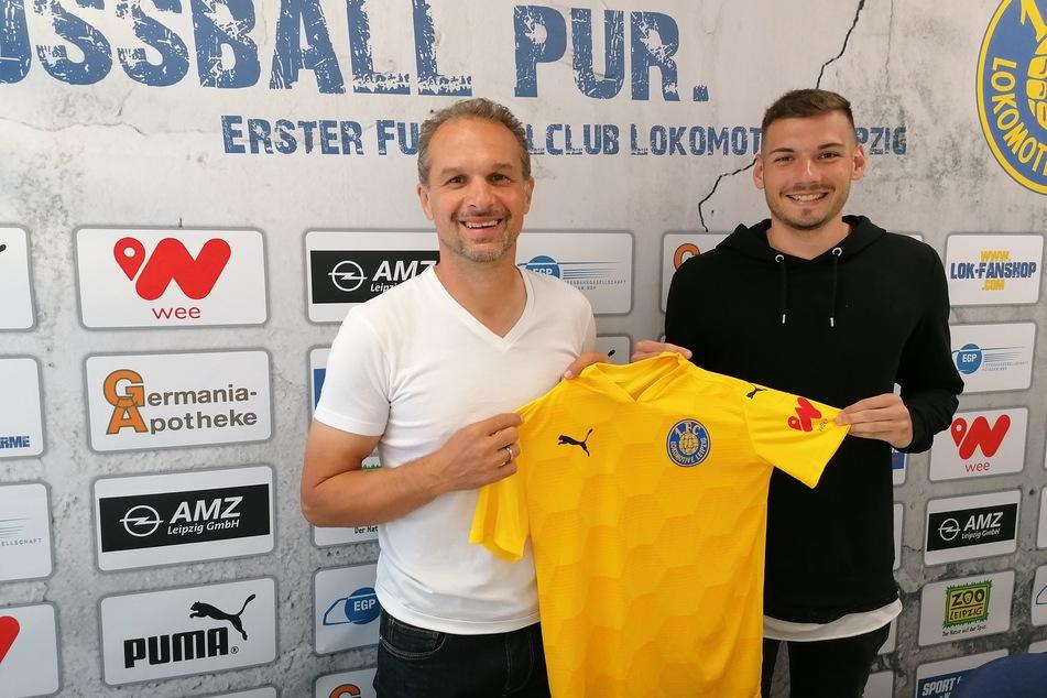 Cheftrainer Almedin Civa freut sich über seinen Neuzugang.