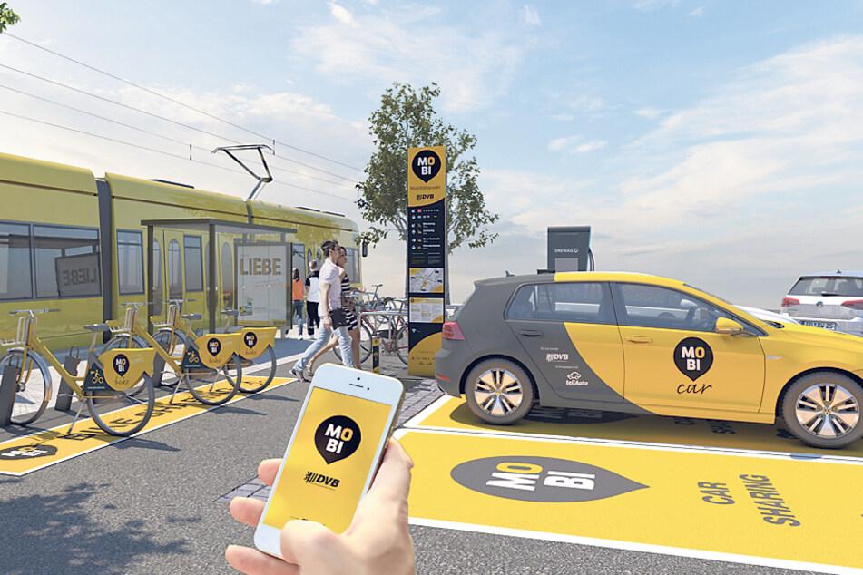 Allein die neuen DVB-Autos und Räder sollen eine halbe Million mehr Fahrgäste einbringen.