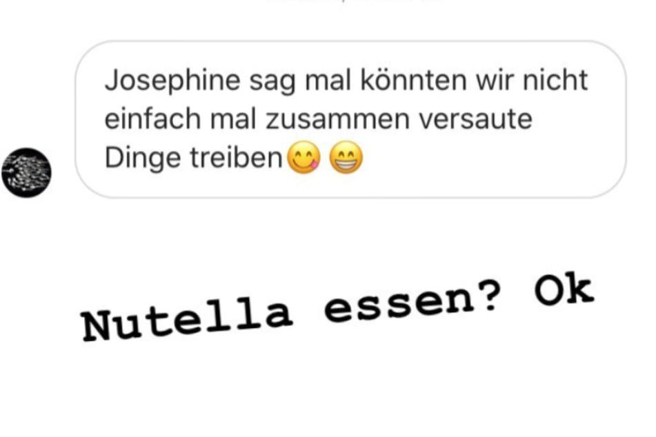 Dieser Screenshot zeigt die komplette Instagram-Story von sexy Josi alias Josimelonie.
