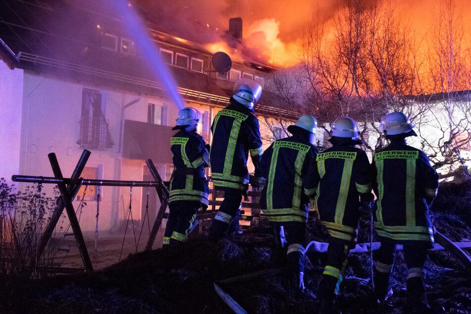 In Kaufbeuren stand ein Tankreinigungsunternehmen in Flammen.