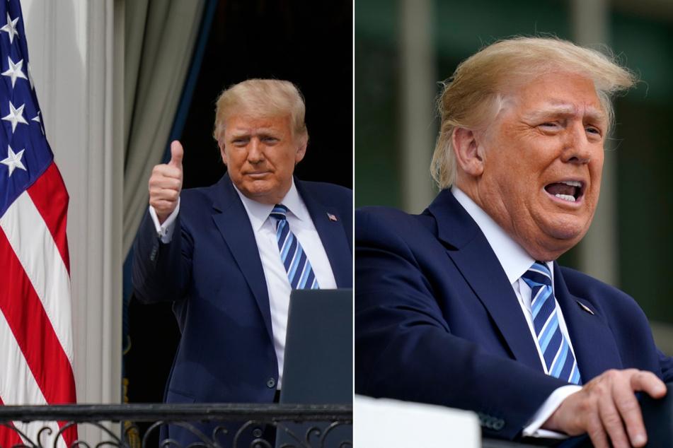 Trump spricht vom Balkon zum Volk und macht düstere Warnungen