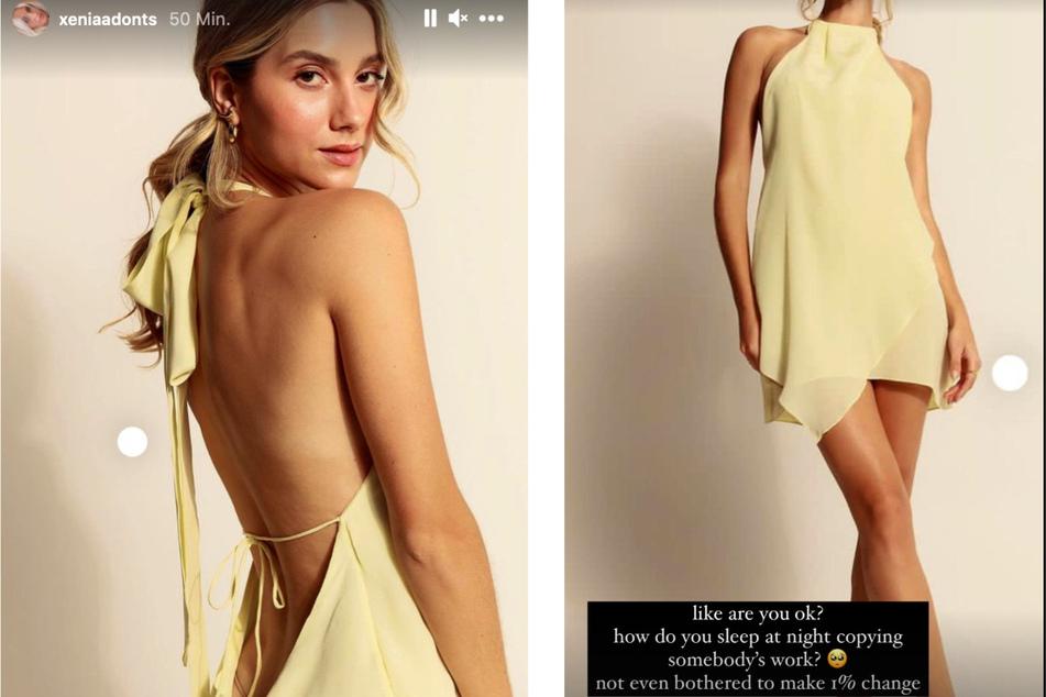 Das laut Xenia Adonts (30) kopierte Kleid.