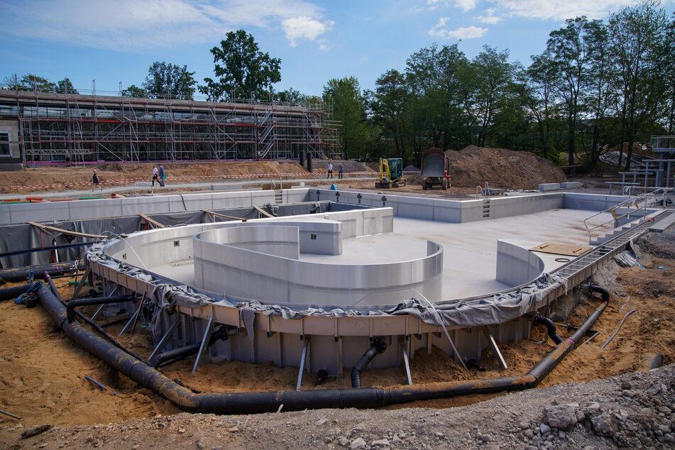 Auch das Freibad ist in der Struktur bereits gut erkennbar.