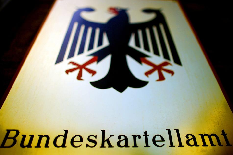 Ein Schild des Bundeskartellamtes.
