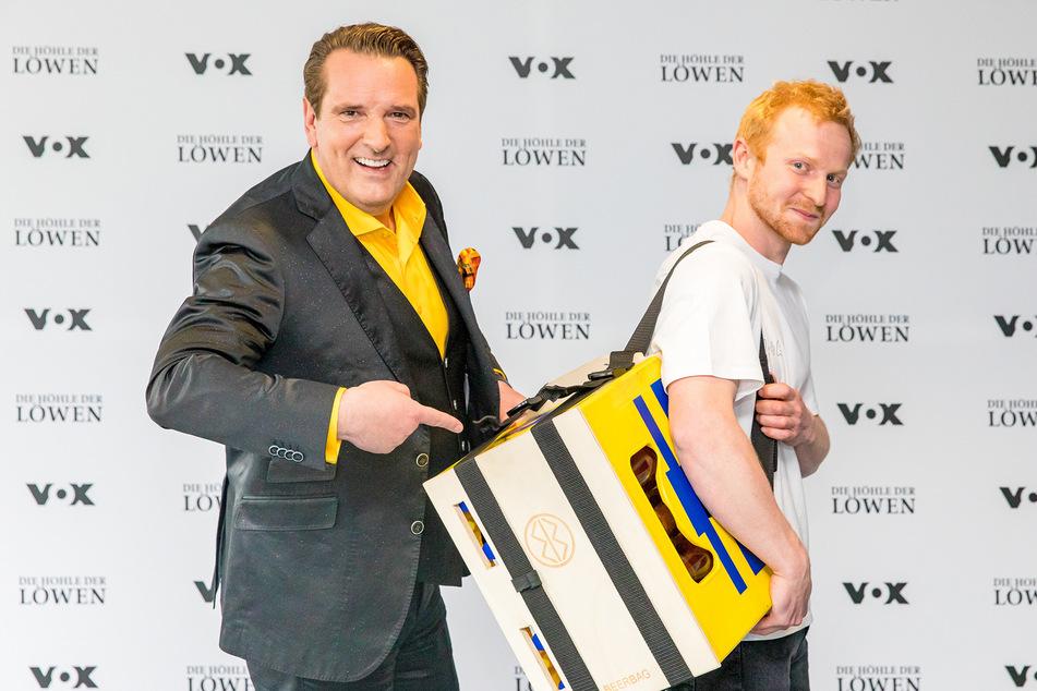 """Höhle der Löwen: Sieg in der """"Höhle der Löwen"""": Dresdner Student kann Bier-Rucksack produzieren!"""