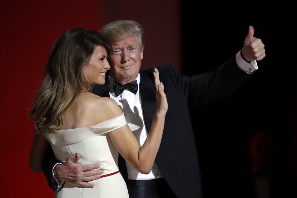 "US-Präsident Donald Trump und seine Frau Melania tanzen am Tag seiner Amtseinführung am 20. Januar beim ""Liberty Ball""."