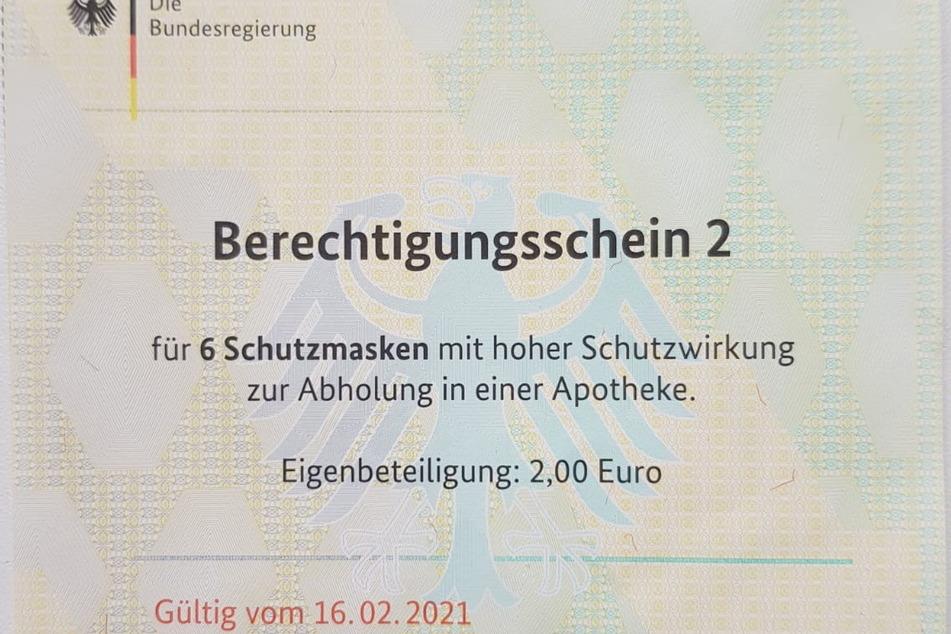Nicht ganz kostenlos: Pro Bezugsschein werden zwei Euro Zuzahlung fällig.